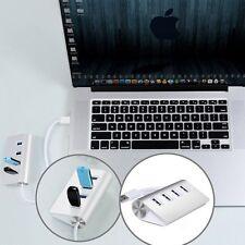 4Port USB 3.0 Multi HUB Splitter Aluminum Adapter High Speed For PC Laptop Mac G