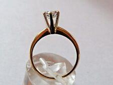 bwb50 14K gold & .65 CARAT DIAMOND ENGAGEMENT RING, retro MIDCENTURY 60s setting
