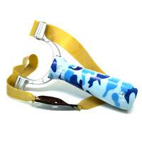 Blue Camouflage Hunting Slingshot Flat Band Catapult Toys Powerful Portable