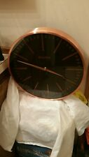 Bulova Copper Classic Analog Quartz Brushed Copper Metallic Wall Clock C4811