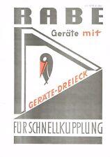Rabewerk Geräte mit Geräte- Dreieck, orig. Prospekt 1973