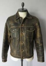 Levis Vintage LEATHER TRUCKER JACKET