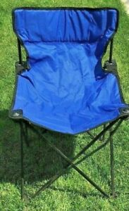 """Blue 29"""" Chair Folding Comfortable Lightweight Indoor Outdoor Camping"""