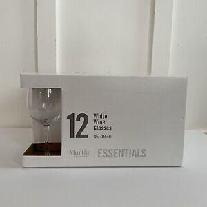 Martha Stewart Essentials 12 White Wine Glasses 12 Oz