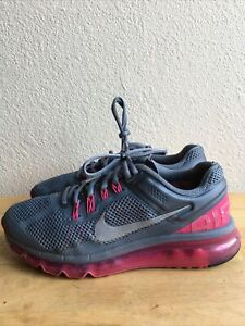 Nike Air Max+ FitSoles Running Shoes Gray & Pink 555363-006 Women's SZ 8 Pre-Own