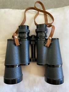 Vintage muse 7x50 7233 Japanese Binoculars with Leather Carrying Case Heavy Duty