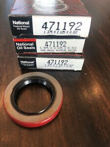 Federal Mogul National 471192 Oil Wheel Seal Approx 1.375x2.125x.312 Brand New!