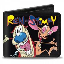 Ren and Stimpy Bi-Fold Wallet Black