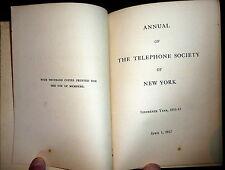 Telephone Society of New York 1912 Annual Directory. Telephony