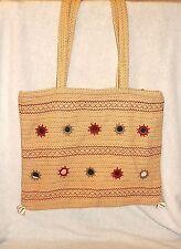 VINTAGE ~Banjara Style Embroidered/ Mirrors/ Seashells Shoulder Bag *VERY GOOD++