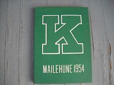 "1954 Kapaa High School Yearbook ""Mailehune"" Kauai Hawaii"