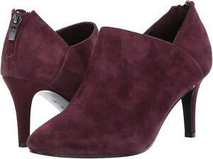 Bandolino Womens dawn Leather Almond Toe Ankle Fashion Boots, Sangria, Size 8.5