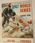 1967 World Series Program St. Louis Cardinals vs Boston Red Sox Fenway Park
