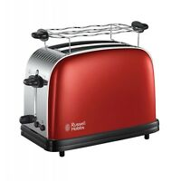 Russell Hobbs Colours Plus+ Flame Red Toaster Rot-Edelstahl 1.670 W Stopptaste