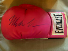 MIKE TYSON AUTOGRAPHS BOXING GLOVE EVERLAST PINK (FOR THE CURE) RARE SIGNED