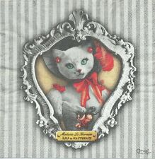 2 Serviettes en papier chat Lili Decoupage Paper Napkins Cat