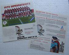 Two 1978 New England Patriots Team Picture Ticket Form (Ponderosa Restaurant)