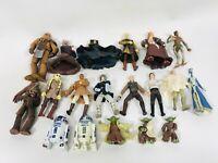 Lot of 19 Star Wars Saga Collection Rebels Alliance Jedi Action Figures Hasbro