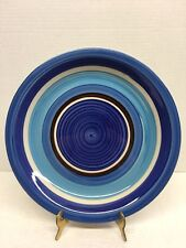 Royal Norfolk Stoneware Dinner Plates Made in China Blue/ Brown Bands