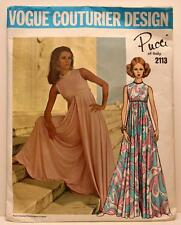Vintage Vogue PUCCI of Italy Couturier Design Culotte Pattern 2113 Sz 12 Bust 34