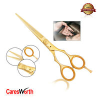 Hairdressing Barber Scissor Razor Sharp Shears Japanese Salon Hair Cutting Gold