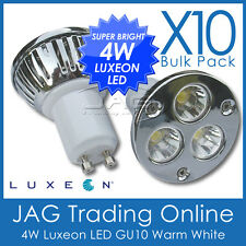 10 x 240V 4W 3*1W LUXEON LED WARM WHITE GU10 DOWN LIGHT/DOWNLIGHT GLOBES LIGHTS*