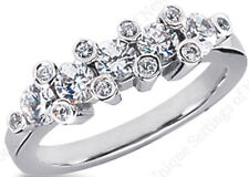 1.37 carat Round Diamond Wedding Gold Ring Anniversary Band F color VS clarity