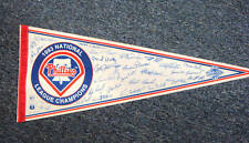 PHILLIES 1993 NL CHAMPIONS TEAM SIGNED 12x30 PENNANT