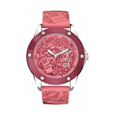 Marc Ecko  The Tran Pink Dial Watch E09530G5 with Pink Silicone Strap