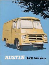 Austin LD 1 & 1.5 Ton Delivery Van Mid 1950s UK Market Foldout Sales Brochure