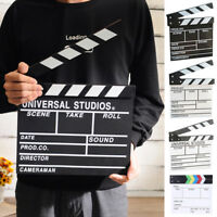 Wooden Clapper Board Director TV Movie Film Clapperboard Video Scene Supplies