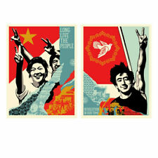 🟢 SHEPARD FAIREY -  LONG LIVE THE PEOPLE & REVOLUTION IN OUR TIME - SET - #/500