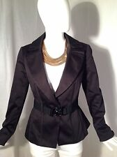 WHITE HOUSE BLACK MARKET Belted Coat Lined Fashion Jacket Top Sz 4