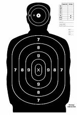 25 pk Black Airsoft pellet bb gun Silhouette paper shooting targets