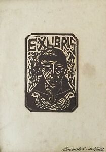 Xylography by Osvaldo Cabrera Del Valle. Ex-Libris, c 1958. Set of 7. Signed.