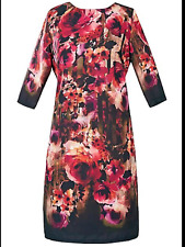 Pomodoro Kaleidoscope Size 10 Rose Print Shift DRESS Occasion Evening Party New