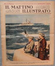 Il Mattino illustrato Mussolini libia marzo 1937 Militaria militare