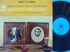 Bruno Walter conducts Schubert Symphony in C major NM OZ LP CBS Masterworks '62