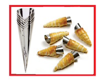 TALA 12PC Stainless Steel Cream Horn Moulds. Pastry/Cakes/Brandy Snaps/Desserts.