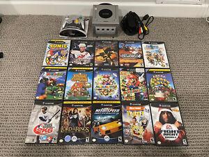 Gamecube Console and 15 game bundle lot Mario Golf, Mario Party 5, Mario Party 6