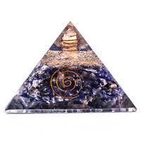 70-75mm Lapis Lazuli Stone Orgone Pyramid Feng Shui Reiki Healing Crystal