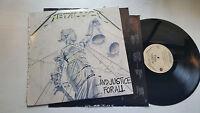 Metallica And Justice For All 1988 Elektra 608121 2 lp orig slayer megadeth rare