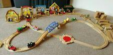 *RARE* Brio Wooden Railway Richard Scarrys Busytown & Wild West Train & Tracks
