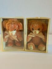 "2 Merrythought Cheeky strawberry Bears 6"" Mohair Limited Edition w box and paper"