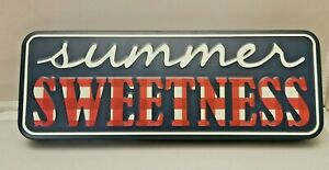 """Summer Sweetness Sign Pioneer Woman Red Check Sign Metal 15"""" x 5.6"""""""