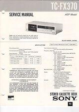 Sony-tc-fx370 - Service Manual grafico-b3191