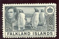 Falkland Islands 1937 KGVI 2s 6d slate superb MNH. SG 160 variety.