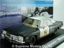 BLUES BROTHERS MODEL CAR BLUESMOBILE DODGE MONACO 1974 1:43 GREENLIGHT T3412Z