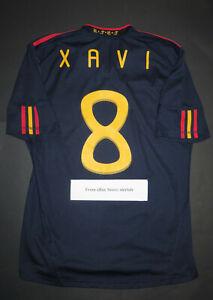 2010-2011 World Cup Adidas Spain Xavi Away Jersey Shirt Kit Authentic