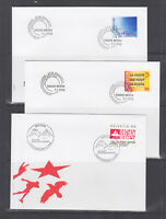 Switzerland Mi 1637/1671, 1998 issues, 8 complete sets in singles on 20 FDCs, VF
